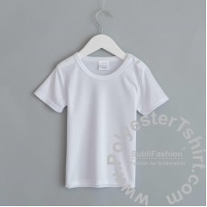 Polyester Cotton-Feel Baby T-shirt  with Snaps Short Sleeves