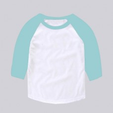 Baseball 100% Poly Middle Sleeves T-shirt (choose a color for the sleeves & rib neck)