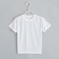 T-shirt white polyester interlock