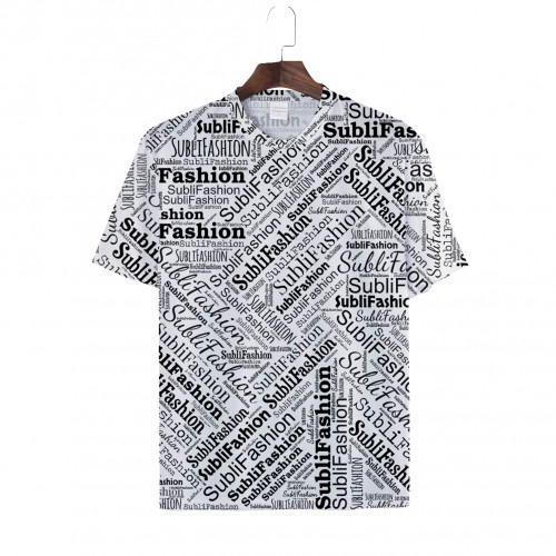 3XL-5XL T-shirt White, Polyester Cotton-Feel, Plus Size