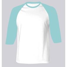 Baseball Middle Sleeves Men T-shirt