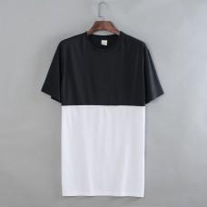Black-white Uptown Men Short Sleeves T-shirt