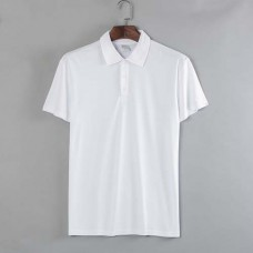 Polo Shirt Polyester Cotton-Feel Short Sleeves