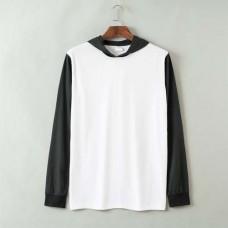 Long Sleeves Hoodie T-shirt Dual Color
