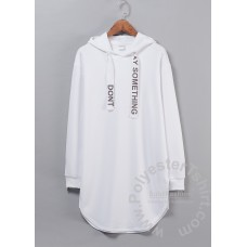 Oversize hoodie with print on the lace