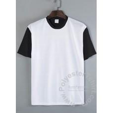 Plus Size B&W T-shirt Short Sleeves