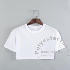 Crop top Polyester Women T-shirt