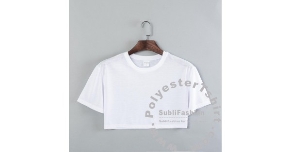 Crop Top Polyester Women Shirt