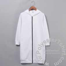 Oversized hoodie zipper jacket