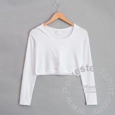 Women Fit Crop Top Hoodie