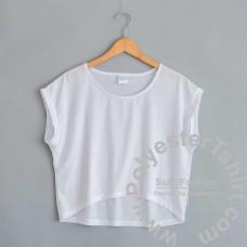 Crop top women t-shirt, free sleeves