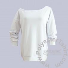 Skew collar women sweatshirt