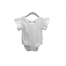 Flutter baby romper Cotton-Feel Polyester short sleeves