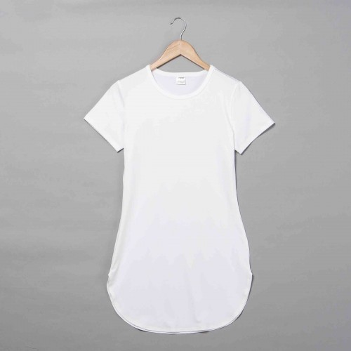Polyester Curved Hem T-shirt Dress