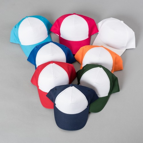 Polyester Cap with White Front for Sublimation