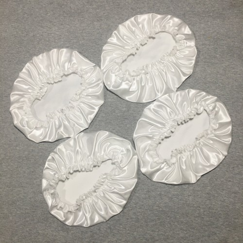 4pcs Set Girls Silk Satin Hair Bonnet (Sleep night cap bonnet)