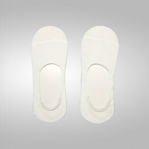 Non Show socks for sublimation (1 pair = 2 socks with 2 cardboard for easy printing). With Silicon Non slip grip at heel