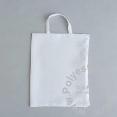 Zipper Tote Bag Woven Fabric 32x25cm (12.6x9.8'')