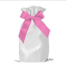 CHRISTMAS SACK and jumbo sack with big bow woven polyester 170gsm (Choose the bow color)