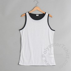 Black and White Men Sleeveless Tank Top
